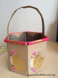 paper basket made with ang pow packets