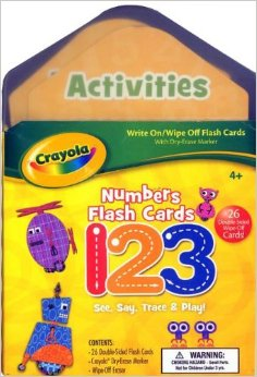 Crayola Numbers Flash Cards