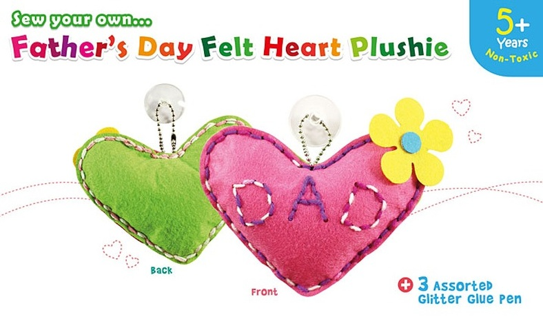 Father's Day Heart Shaped Plushie