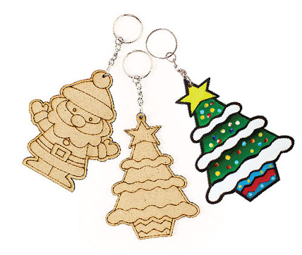 Christmas Wooden Keychain