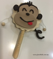 Wooden Monkey Rattle