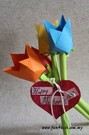 origami tulip mother's day craft