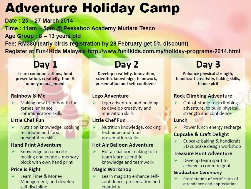 Adventure Holiday Camp Mutiara Damansara
