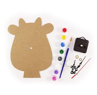 DIY Wooden Clock Painting Kit