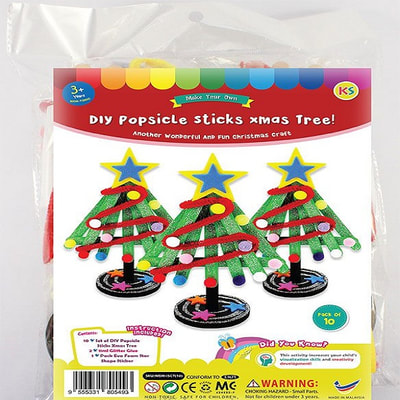 DIY Popsicle Sticks Christmas Tree