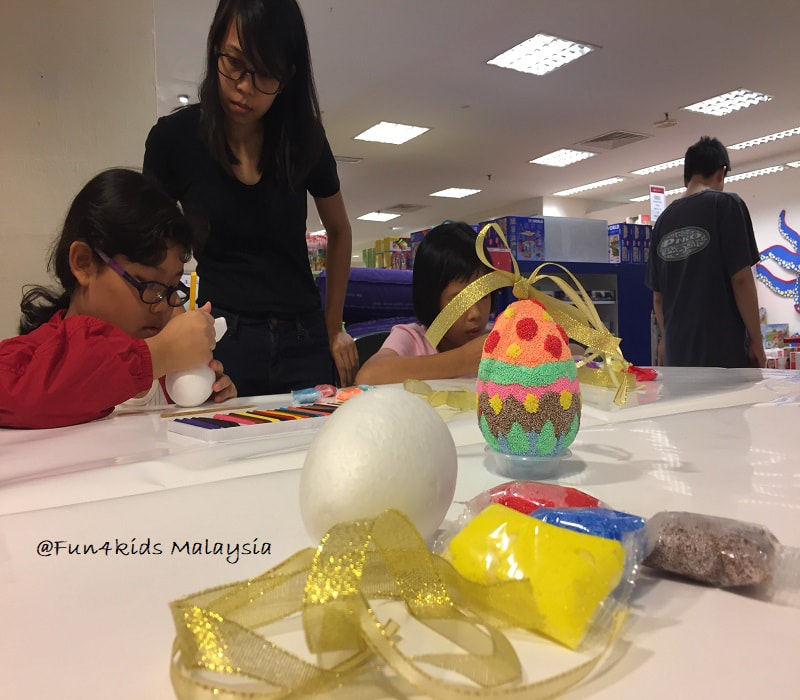 Easter Egg Decoration With Clay