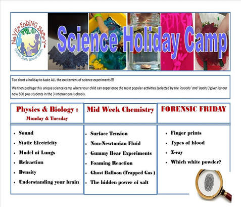 science holiday camp holiday program