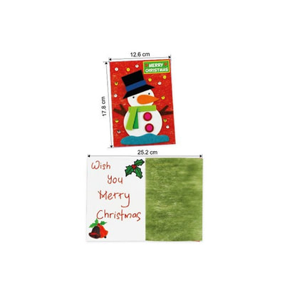 Felt Christmas Snowman Greeting Card