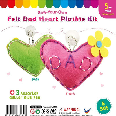 Felt Dad Heart Shape Plushie