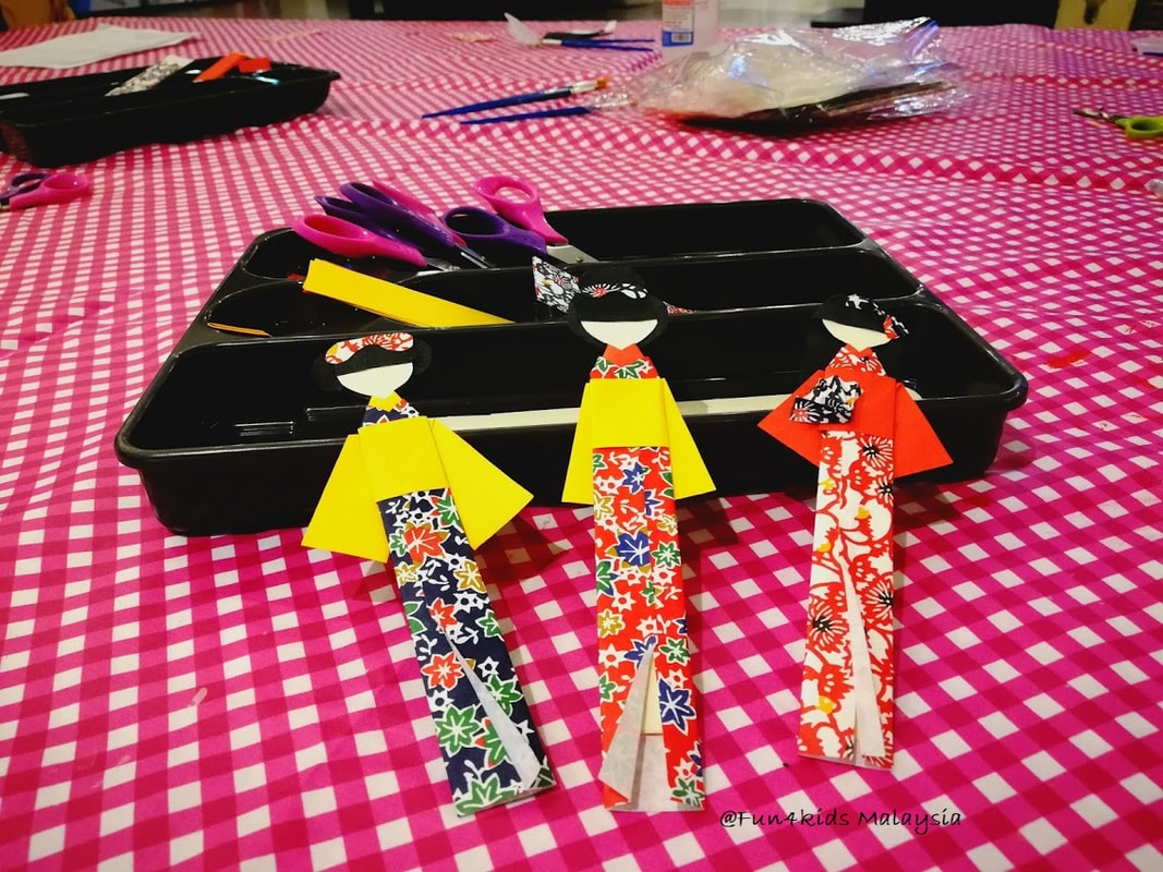 japanese origami doll