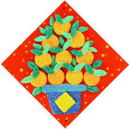 ​Chinese New Year Foam Clay Canvas Kit - Mandarin Orange