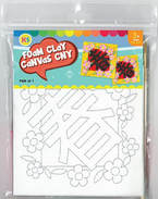 ​​Chinese New Year Foam Clay Canvas Kit - Spring Flower