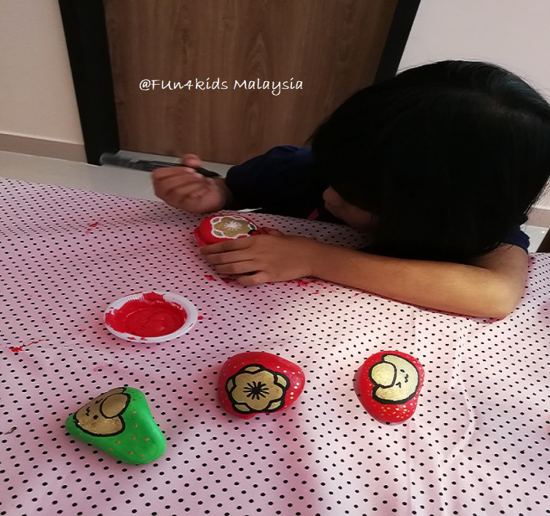 chinese new year Rock Painting