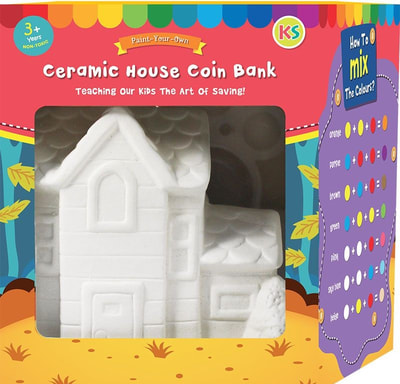 ​Christmas Ceramic Coinbank House