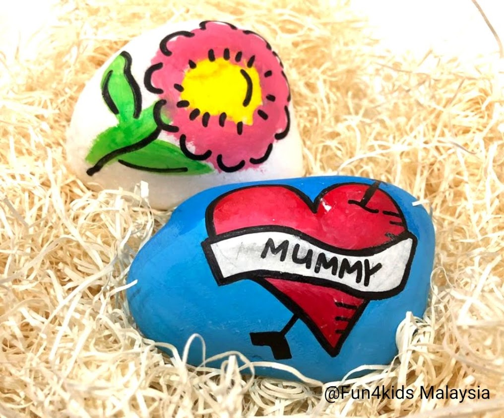 rock painting for mother's day