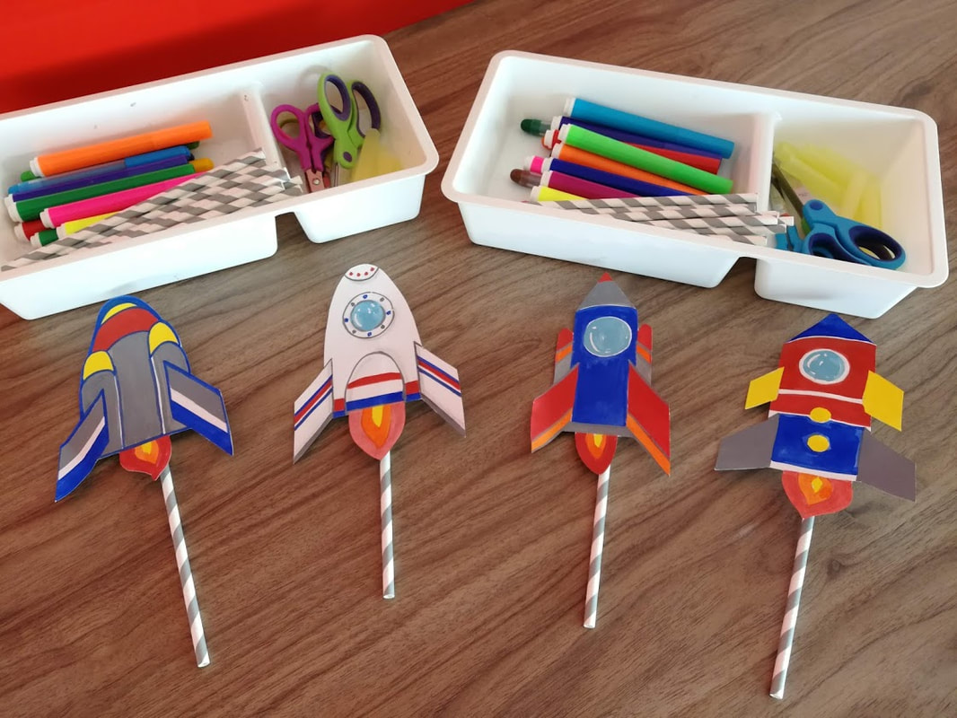 DIY science rocket workshop