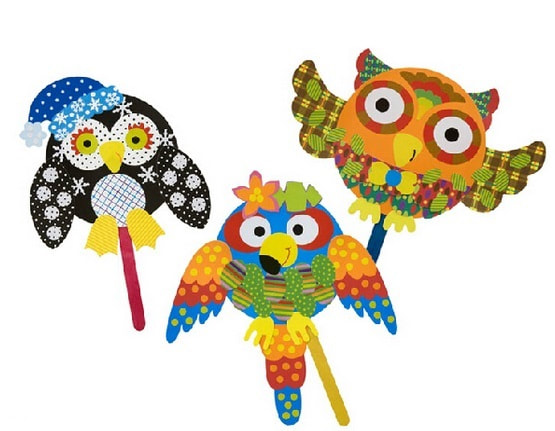 popsicle stick owl craft