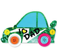 Felt Father's Day Buttons Car Magnet