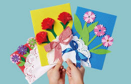 diy mothers day flower card