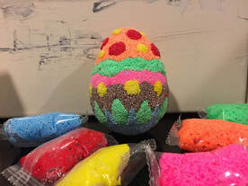Polyfoam easter egg with clay